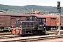 """DWK 655 - DR """"100 950-5"""" 17.08.1991 - Sollstedt, BahnhofArchiv Rolf Köstner"""