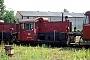 """O&K 26051 - DB """"323 270-9"""" 31.06.1991 - Hamburg-Wilhelmsburg, Bahnbetriebswerk Hamburg 4JTR (Archiv Werner Brutzer)"""